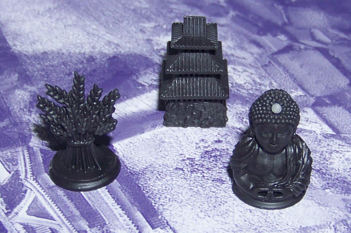 Juego de mesa Samurái - detalle de las miniaturas