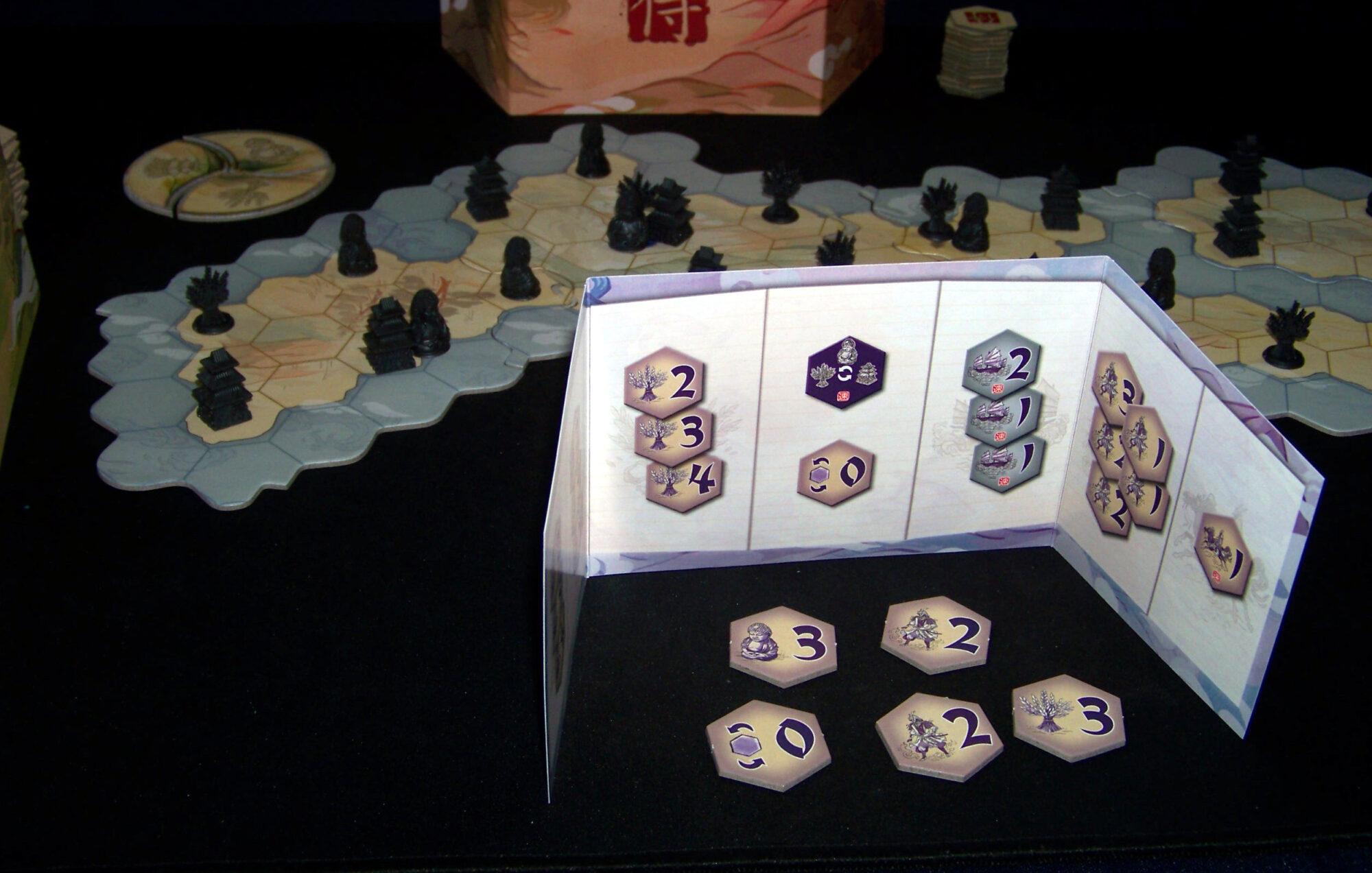 Juego de mesa Samurái - pantalla